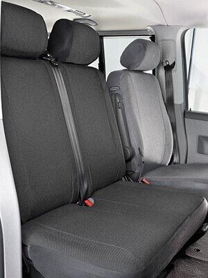 DOUBLE VW LT HEAVY DUTY LEATHERETTE VAN SEAT COVERS SINGLE