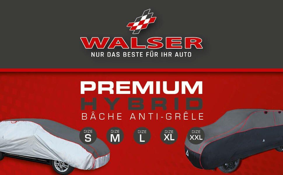 Walser 31091 B/âche de protection pour voiture toutes saisons SUV Taille S Gris clair